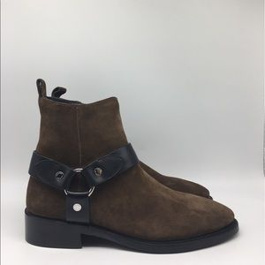 Coach Harness Boots 'Brown Suede' Size 8D M
